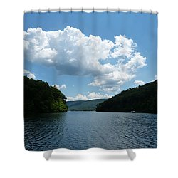 Out Of The Cove Shower Curtain by Donald C Morgan