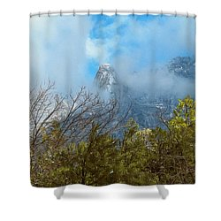 Shower Curtain featuring the photograph Out Of The Mist by Glenn McCarthy Art and Photography