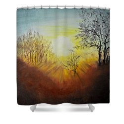 Out Of The Winter Morning Mists - 1 Shower Curtain