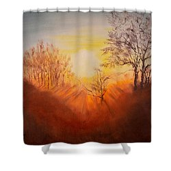 Out Of The Winter Morning Mists - 2 Shower Curtain