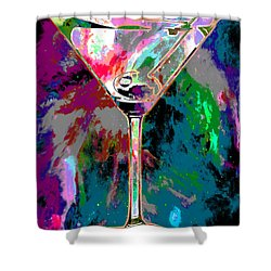 Out Of This World Martini Shower Curtain by Jon Neidert