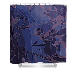 Touch Away Shower Curtain by Moustafa Al Hatter