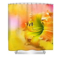 Out Of Yellow Shower Curtain