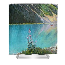 Out On Lake Louise Shower Curtain