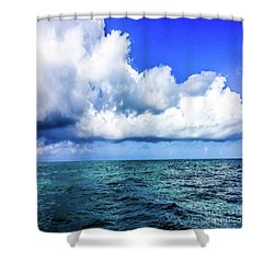 Out On The Open Sea Shower Curtain