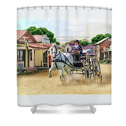 Out On The Town Shower Curtain