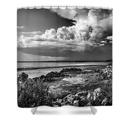 Shower Curtain featuring the photograph Out To Sea by Howard Salmon