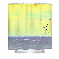 Out To Sea Shower Curtain