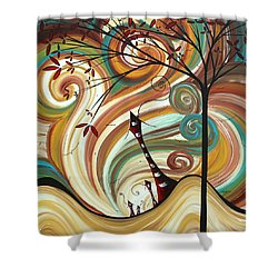 Out West II By Madart Shower Curtain by Megan Duncanson