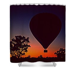 Outback Balloon Launch Shower Curtain
