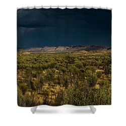 Outback Storm Shower Curtain by Racheal Christian