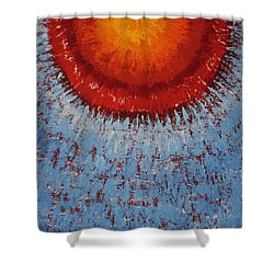 Outburst Original Painting Shower Curtain