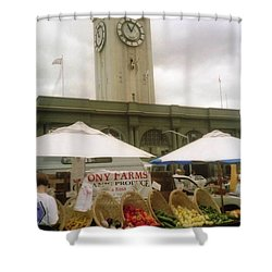 Outdoor Farmers Market Shower Curtain