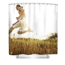 Outdoor Jogging II Shower Curtain by Brandon Tabiolo - Printscapes