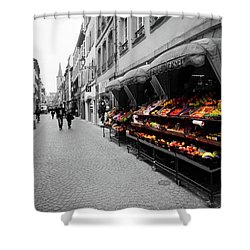 Outdoor Market Shower Curtain