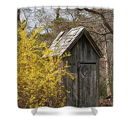 Outdoor Plumbing Shower Curtain by Nicki McManus