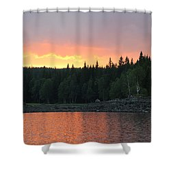 Outdoors In Norway.  Shower Curtain