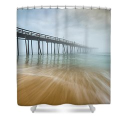 Outer Banks North Carolina Nags Head Obx Nc Beach Pier Seascape Shower Curtain