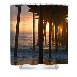 Outer Banks Pier 7/6/18 Shower Curtain