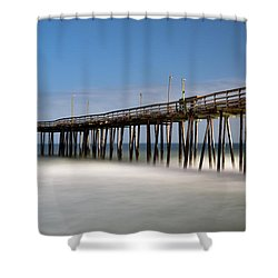 Outer Banks Pier Shower Curtain
