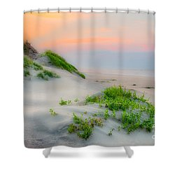 Outer Banks Soft Dune Sunrise Shower Curtain