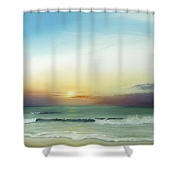 East Coast Sunrise Shower Curtain by Albert Puskaric