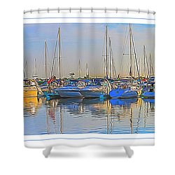 Shower Curtain featuring the photograph Outer Harbor Marina by Darleen Stry