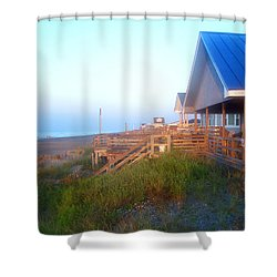 Shower Curtain featuring the photograph Outerbanks Sunrise At The Beach by Sandi OReilly