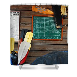 Outfitters Shower Curtain by James Kirkikis