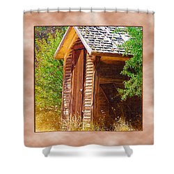 Shower Curtain featuring the photograph Outhouse 1 by Susan Kinney