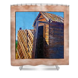 Shower Curtain featuring the photograph Outhouse 2 by Susan Kinney
