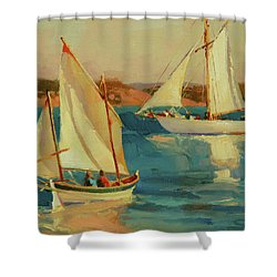 Shower Curtain featuring the painting Outing by Steve Henderson