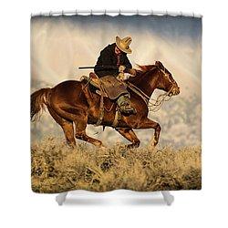 Outlaw Kelly Western Art By Kaylyn Franks Shower Curtain