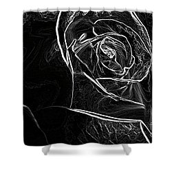 Shower Curtain featuring the photograph Outline Of A Rose by Micah May