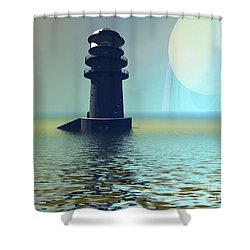 Outpost Shower Curtain by Corey Ford