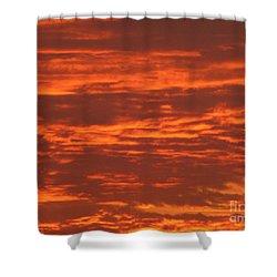 Outrageous Orange Sunrise Shower Curtain