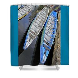 Outrigger Canoe Boats Shower Curtain by Ben and Raisa Gertsberg