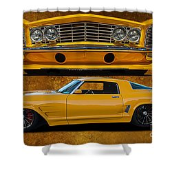 Outstanding Riviera Shower Curtain by Jim  Hatch