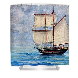 Outward Bound Shower Curtain by Dennis Clark