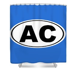Shower Curtain featuring the photograph Oval Ac Atlantic City New Jersey Home Pride by Keith Webber Jr