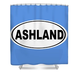 Shower Curtain featuring the photograph Oval Ashland Oregon Or Ohio Home Pride by Keith Webber Jr