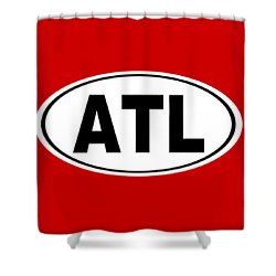 Shower Curtain featuring the photograph Oval Atl Atlanta Georgia Home Pride by Keith Webber Jr