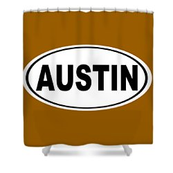 Shower Curtain featuring the photograph Oval Austin Texas Home Pride by Keith Webber Jr