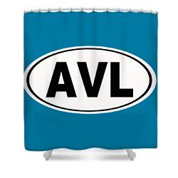Shower Curtain featuring the photograph Oval Avl Asheville North Carolina Home Pride by Keith Webber Jr