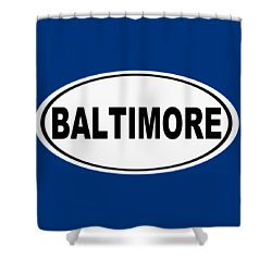 Shower Curtain featuring the photograph Oval Baltimore Maryland Home Pride by Keith Webber Jr