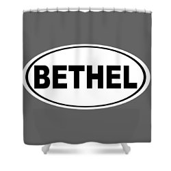 Shower Curtain featuring the photograph Oval Bethel Connecticut Home Prid by Keith Webber Jr