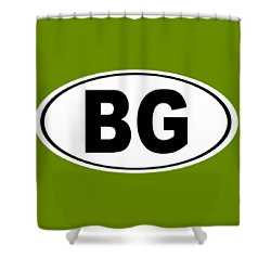 Shower Curtain featuring the photograph Oval Bg Bowling Green Kentucky Home Pride by Keith Webber Jr