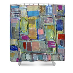 Oval Block Shower Curtain