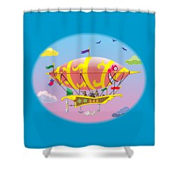 Dreamship II Shower Curtain