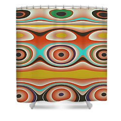 Ovals And Circles Pattern Design Shower Curtain